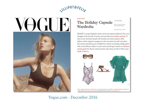 Lilliput & Felix' Arabesque Multi-tie Swimsuit in maroon marble featured in Vogue