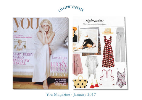 Lilliput & Felix luxury reversible swimsuit in maroon marble featured in You Mag