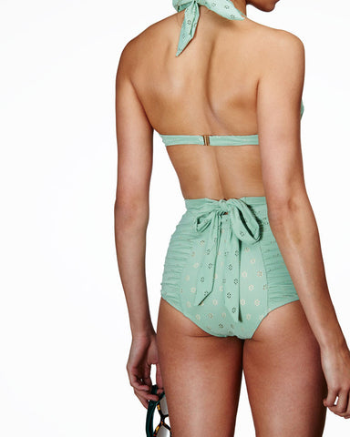 'Dahlia' high waisted bottoms in 'Green Crochet'