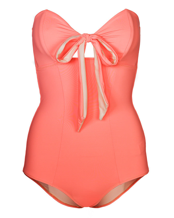'Iris' swimsuit in 'Hot Coral'