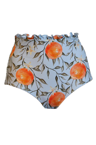 'Anastasia' ruffle bikini bottoms in 'Orange Blossom'