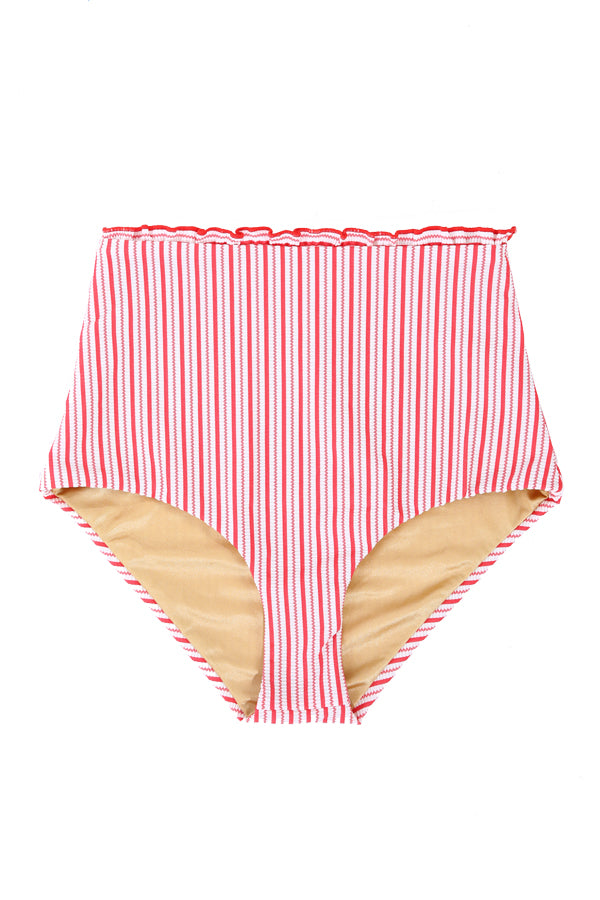 'Anastasia' ruffle bikini bottoms in 'Red Candy'