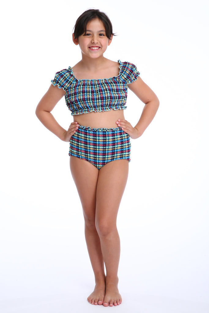 'Anastasia Lilliput' bikini in 'Blue Gingham' for Kids