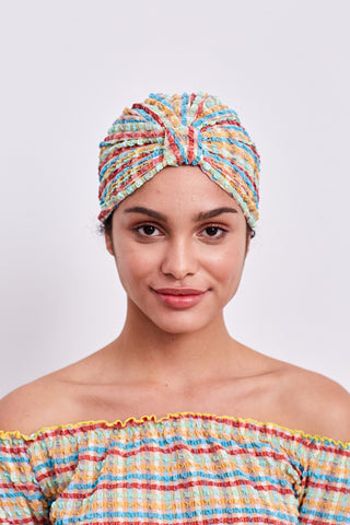 Turban in Yellow Gingham