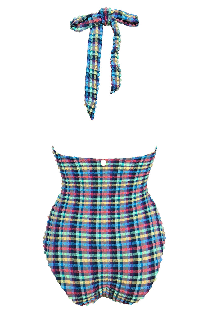 'Aphrodite' swimsuit in 'Blue Gingham'