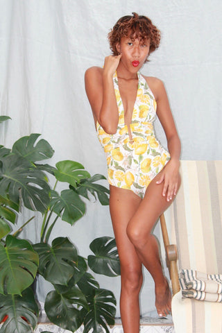 'Aphrodite' swimsuit in 'Lemon Blossom'
