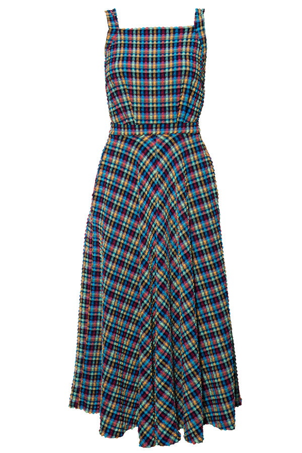 'Artemis' dress in 'Blue Gingham'
