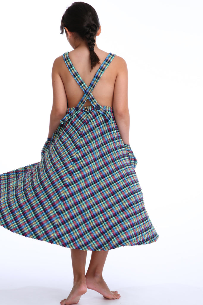 'Artemis Lilliput' dress in 'Blue Gingham' for Kids