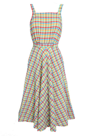 'Artemis' dress in 'Yellow Gingham'