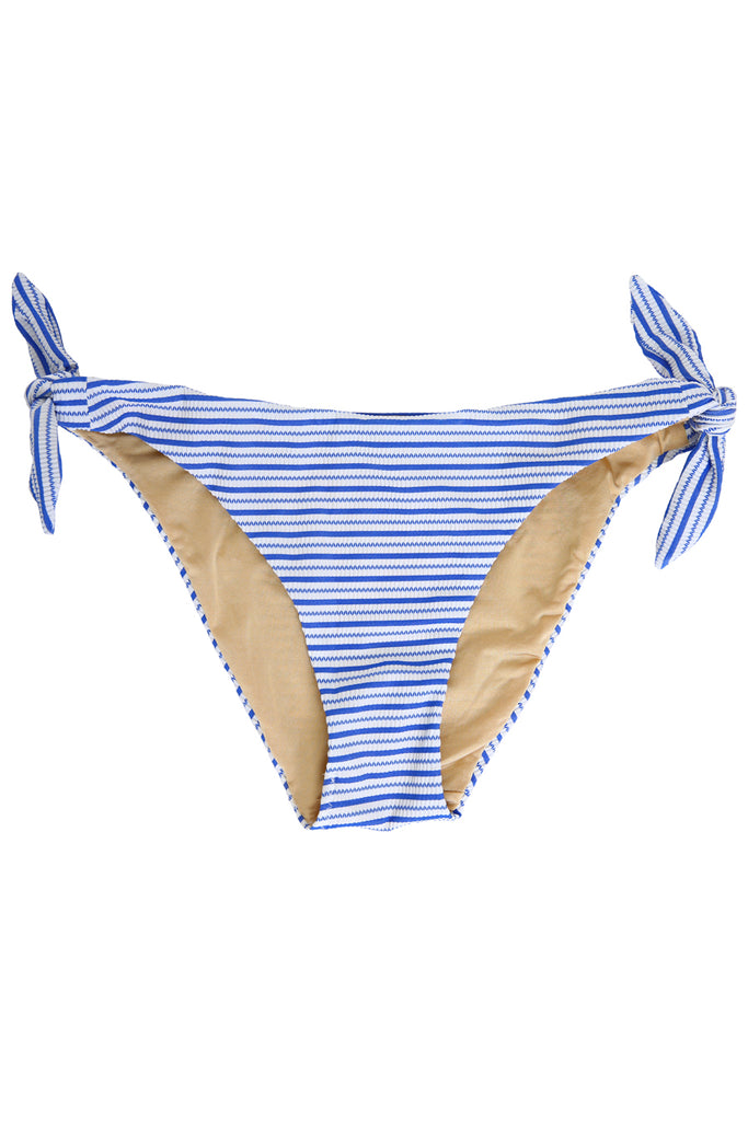 'Bardot' bikini bottoms in 'Blue Candy'
