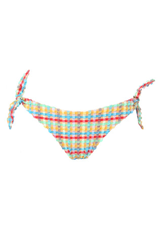 'Bardot' bikini bottoms in 'Yellow Gingham'