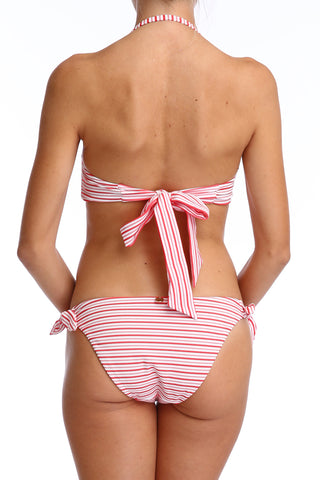 'Bardot' bikini bottoms in 'Red Candy'