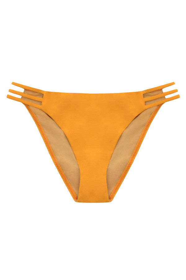 'Barre' ladder bikini briefs in 'Mango'
