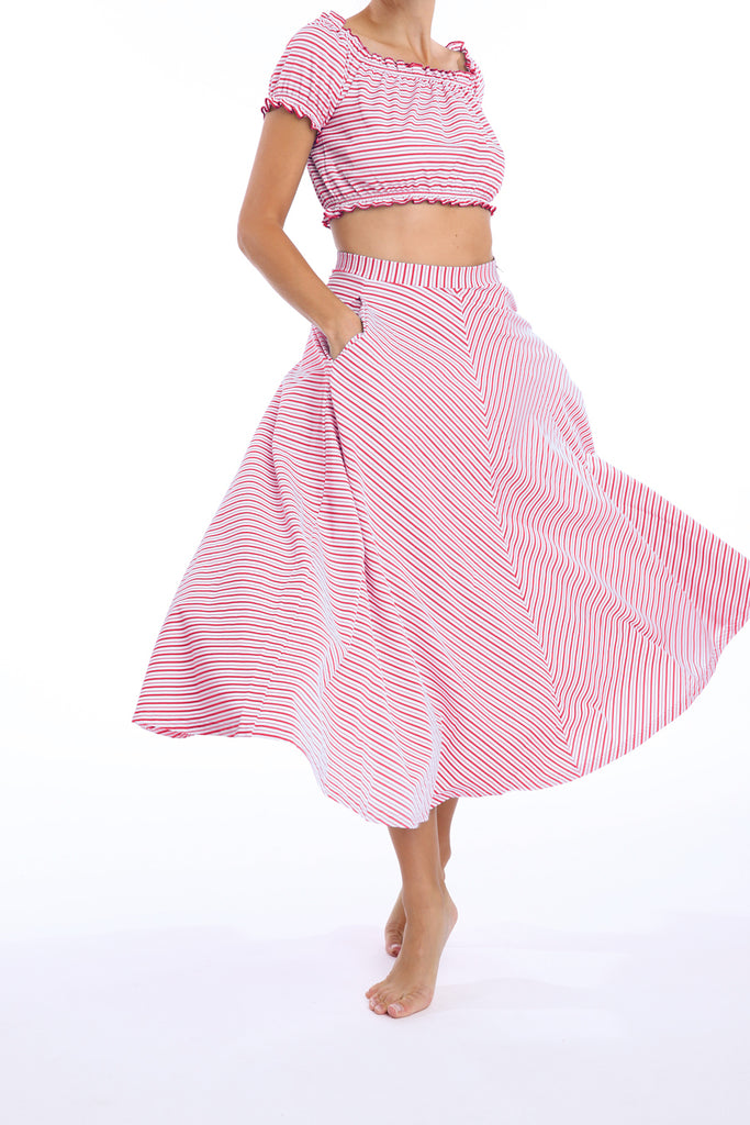 'Calypso' skirt in 'Red Candy'