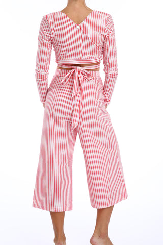 'Orchis' trouser in 'Red Candy'