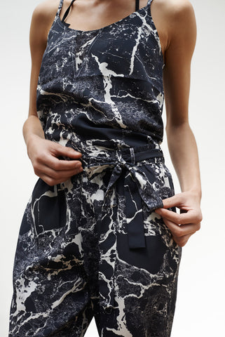 'Hydrangea' Jumpsuit Top in 'Black Marble'