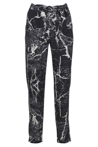 'Hydrangea' Jumpsuit Trouser in 'Black Marble'