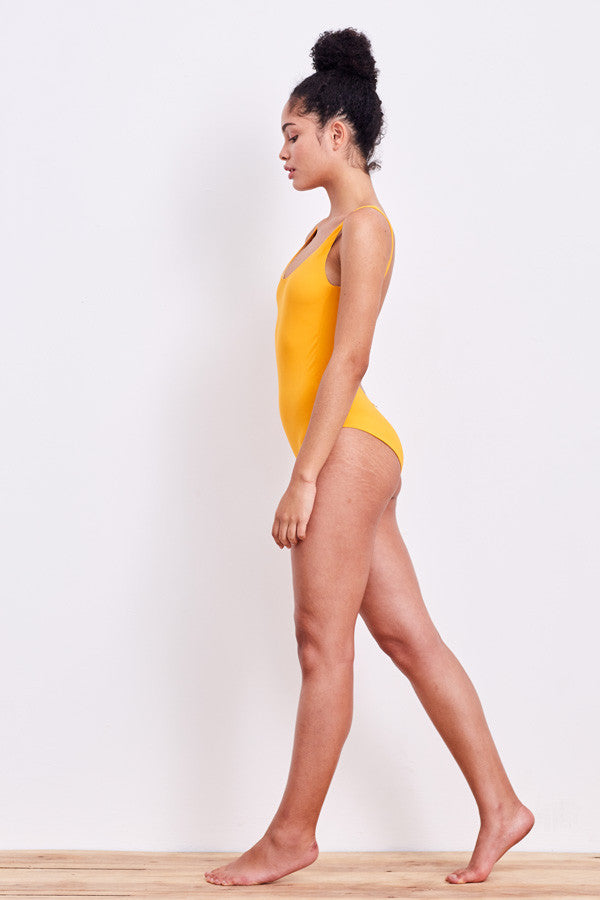 'Leotard' swimsuit in 'Mango'