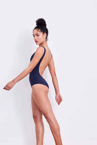 'Leotard' swimsuit in 'Midnight'