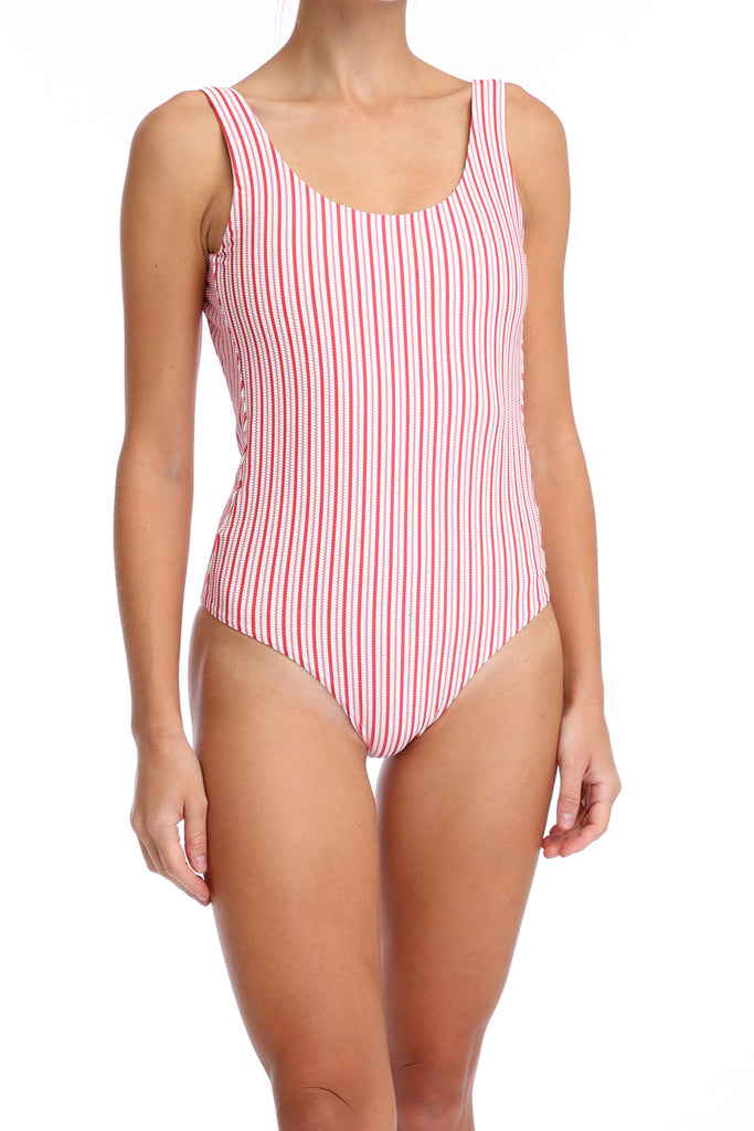 'Leotard' swimsuit in 'Red Candy'