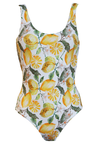 'Leotard' swimsuit in 'Lemon Blossom'