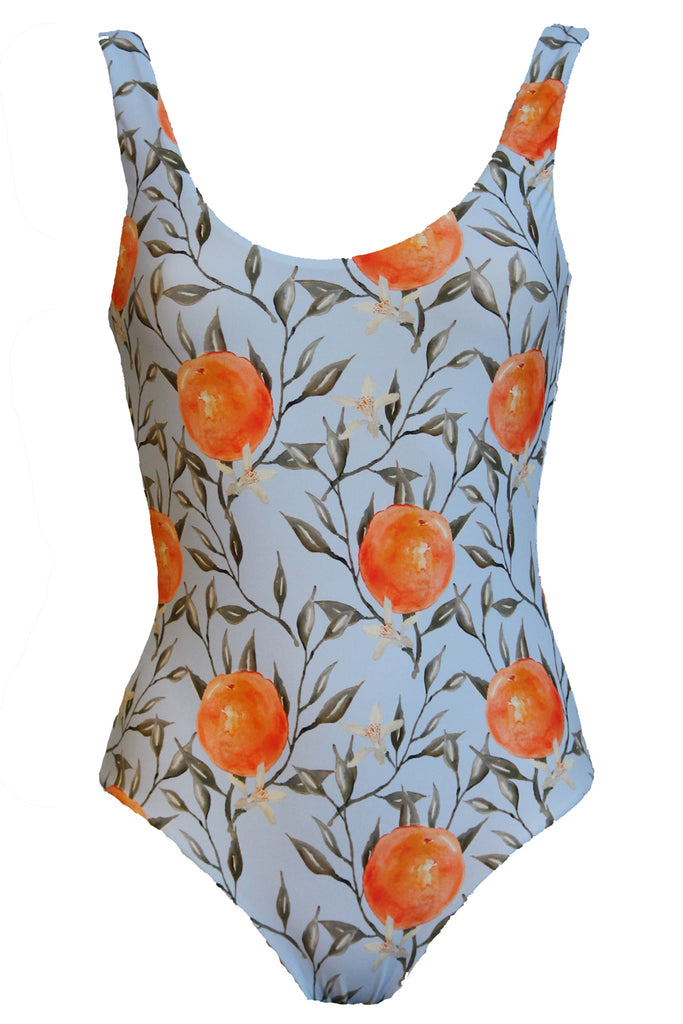 'Leotard' swimsuit in 'Orange Blossom'