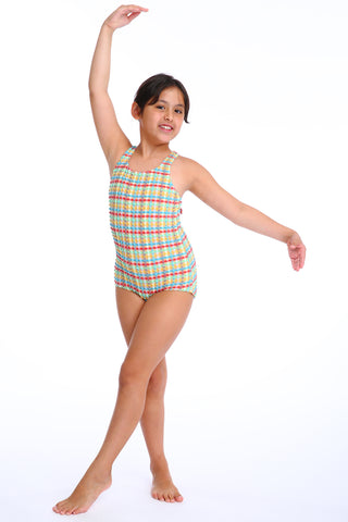 'Lilium Lilliput' swimsuit in 'Yellow Gingham' for Kids