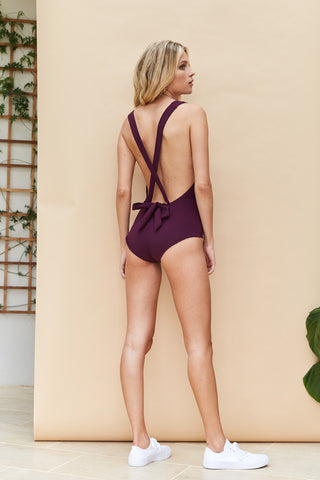 'Lilium' swimsuit in 'Bordeaux'