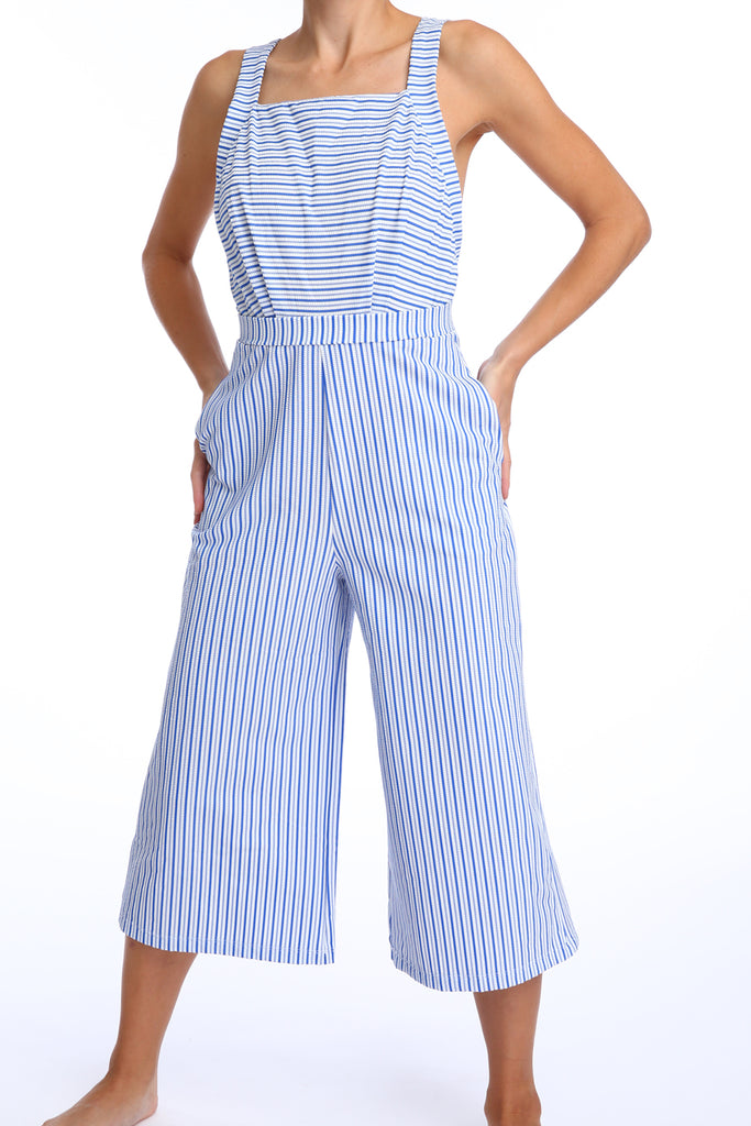 'Ranunculus' jumpsuit in 'Blue Candy'