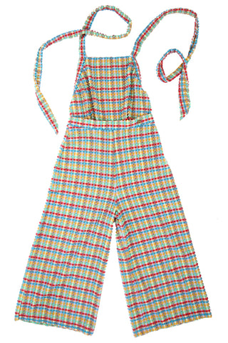 'Ranunculus' jumpsuit in 'Yellow Gingham'