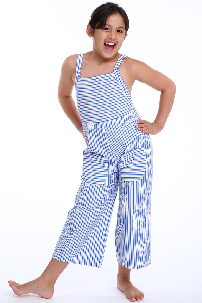 'Ranunculus Lilliput' jumpsuit in 'Blue Candy' for Kids
