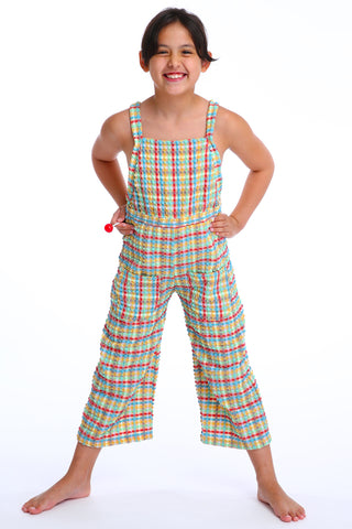 'Ranunculus Lilliput' jumpsuit in 'Yellow Gingham' for Kids