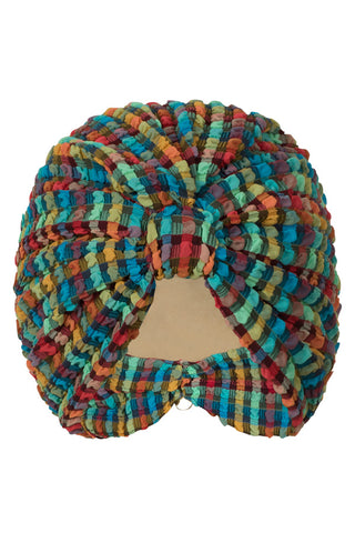 Turban in Orange Rainbow Gingham