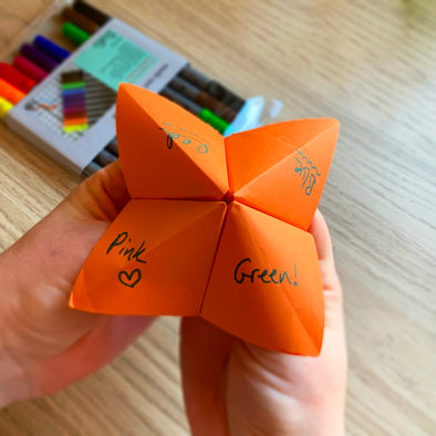 learn how to make a paper fortune teller