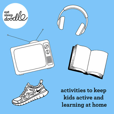 activities to keep the kids active and learning while at home