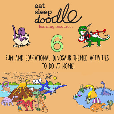 6 fun and educational dinosaur-themed activities to do at home!