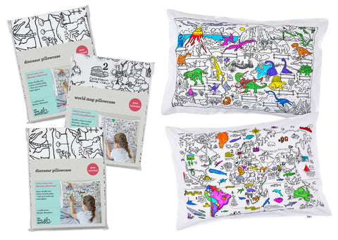 fun pillowcases to colour in