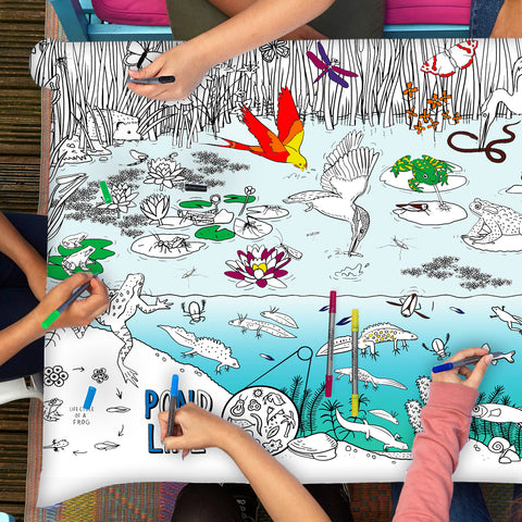 pond life tablecloth - great for pond dipping even on a rainy day