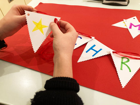 step by step how to make bunting for kids