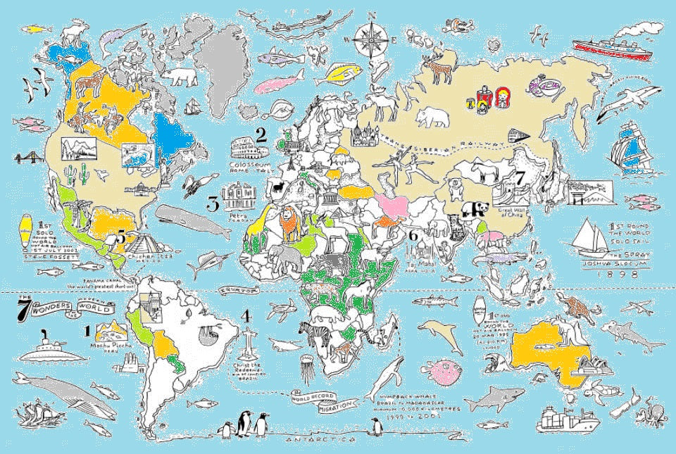 world map – eatsleepdoodle (USA)