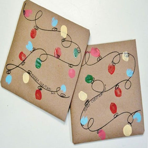 simple painted wrapping paper