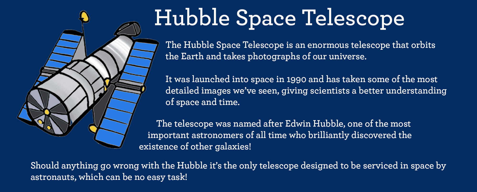 facts about hubble space telescope