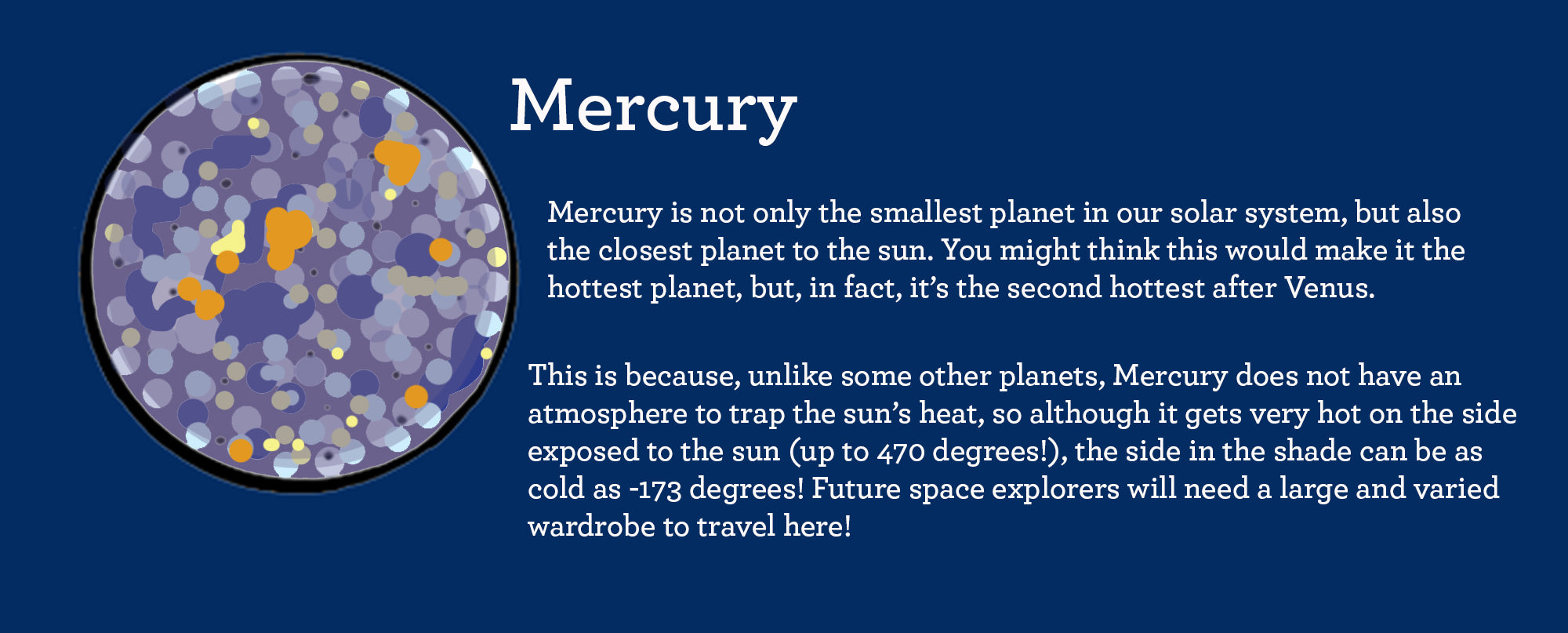 facts about planet mercury
