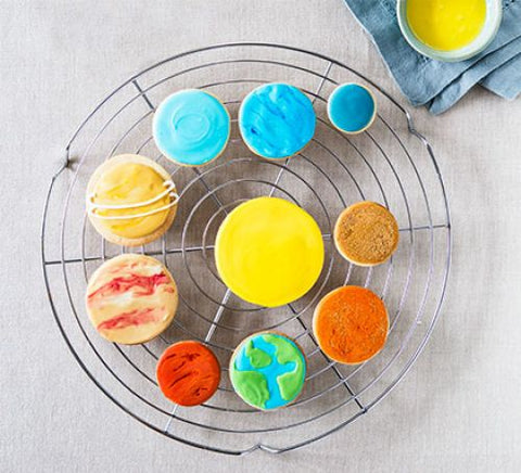 space themed baking for kids