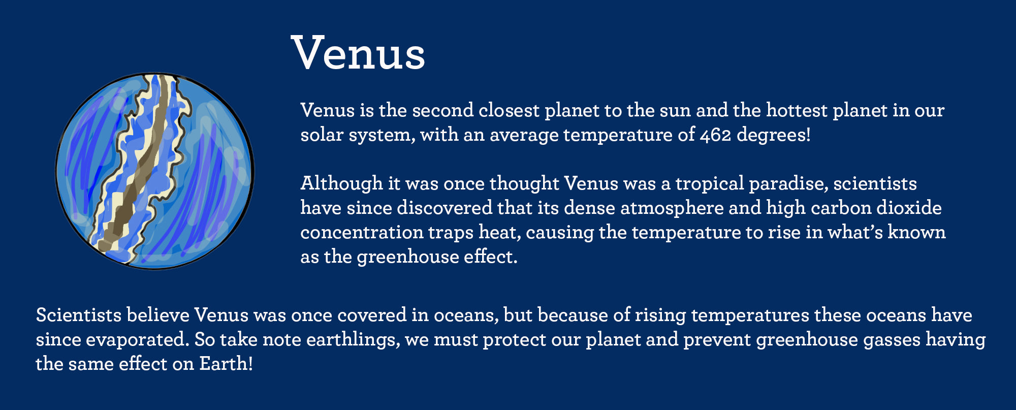 facts about planet venus
