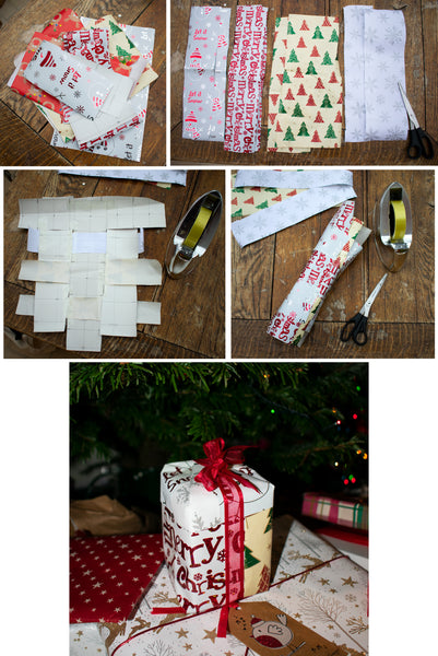 creative way to re-use wrapping paper
