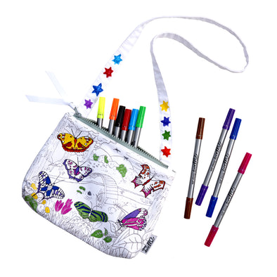 colour-in butterflies bag gift