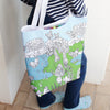 colour-in butterfly tote with inner pocket washout pens