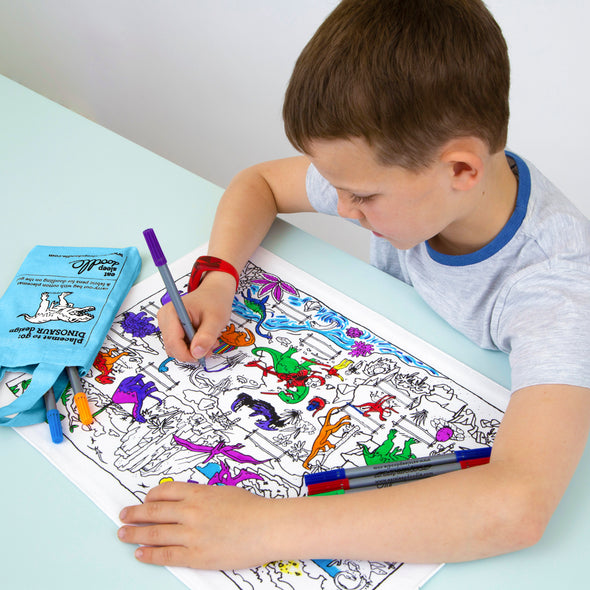 colour-in placemat