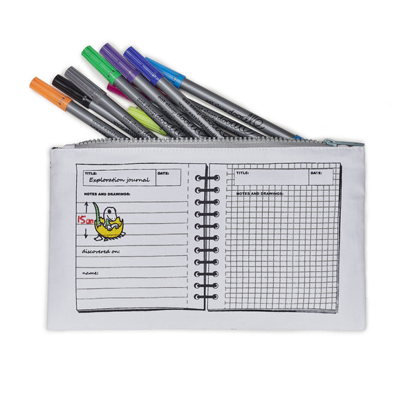 cool kids' pencil case with pens